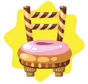 Glazed donut chair