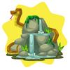 Jungle waterfall decor