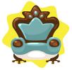 Frog prince blue armchair