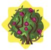 Rose briar bush