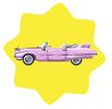 Pink retro convertible