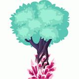 Pink crystal tree