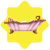 Rapunzel princess bath tub