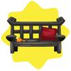 Chinese garden bench