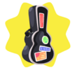 Black guitar case