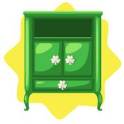 Emerald green wardrobe