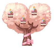 Birthday Cake Tree