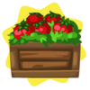 Tomato crate decor