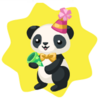 Wwf panda with party popper