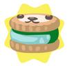 Aquamarine petling biscuit