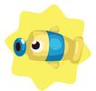 Blue tube fish
