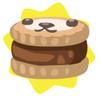 Dark brown petling biscuit