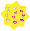 Luminous pink heart string