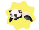 WWF Sleeping Baby Panda