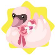 Pink swan plushie