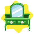 Emerald green dressing table