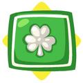 Green shamrock cushion