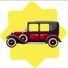 Vintage 1920s red car