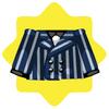 Gangster blue striped jacket
