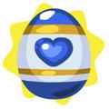 Deep blue easter egg