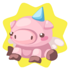 Flying pig plushie