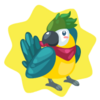 Colorful parrot plushie