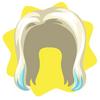 Lady pawpaw two-tone wig