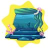 Mermaid kingdom aquarium