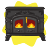 Wrought iron fireplace
