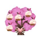 Cupcake berry tree