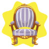 Mad tea party purple chair