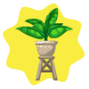 Raised potted plant