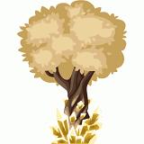 Golden crystal tree