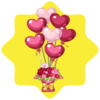 Valentine bouquet with balloons