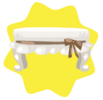 Elegant cream stool