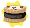 Black petling biscuit