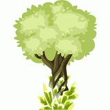 Green crystal tree