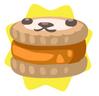 Orange petling biscuit