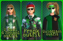 Elena Jenkins green outfits