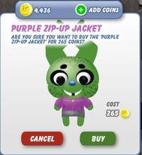 Purple Zip-Up Jacket