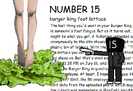 Burger king foot lettace
