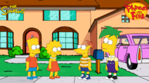 Bart and Lisa meets Phineas and Ferb (Simpsons style)