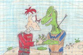 Phineas vs Sorunon Reptilian