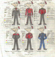 Adult Phineas (Different Uniforms)