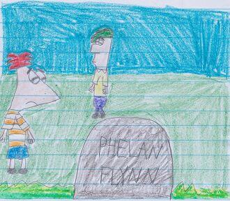 Phin visits Phelan's grave