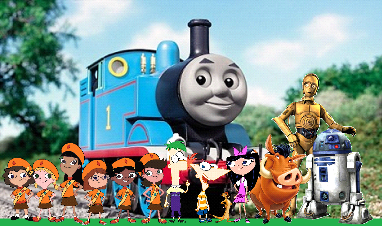 Phineas and ferb meet thomas the tank engine phineas and ferb phineas express m4hsunfo