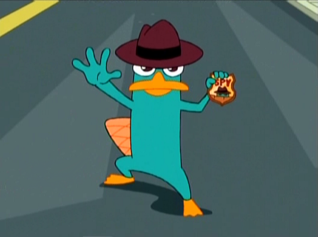 100 ways to annoy perry the platypus phineas and ferb fanon perry spy badge voltagebd Images