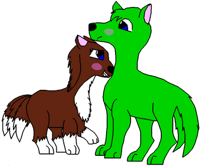 Canine love (color)