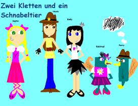 Zwei Kletten und ein Schnabeltier Comic (Two Girls and a Platypus)