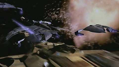 Star Trek DS9 - massive starship battle! HQ